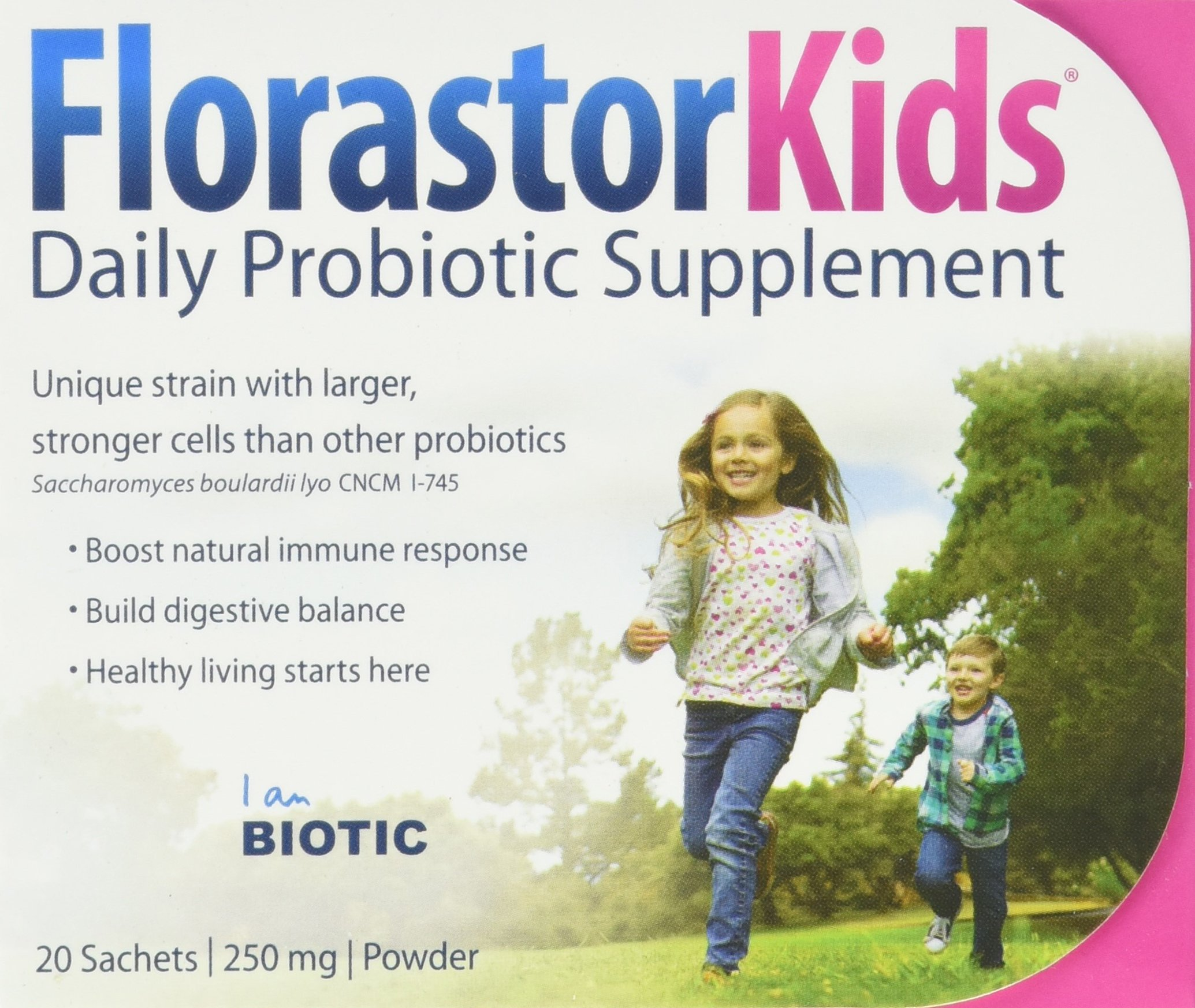 Biocodex Florastor Kids Packet Box, 20 Count