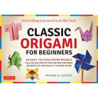 Classic Origami for Beginners Kit: 45 Easy-to-Fold Paper Models: Full-color instruction book; 98 sheets of Folding Paper…