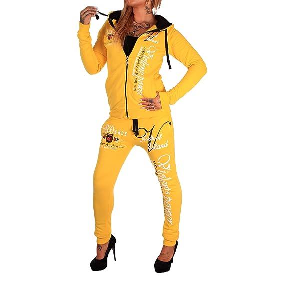 Damen Jogginganzug Jogging Hose Jacke Sportanzug Sporthose Fitness Anzug Power