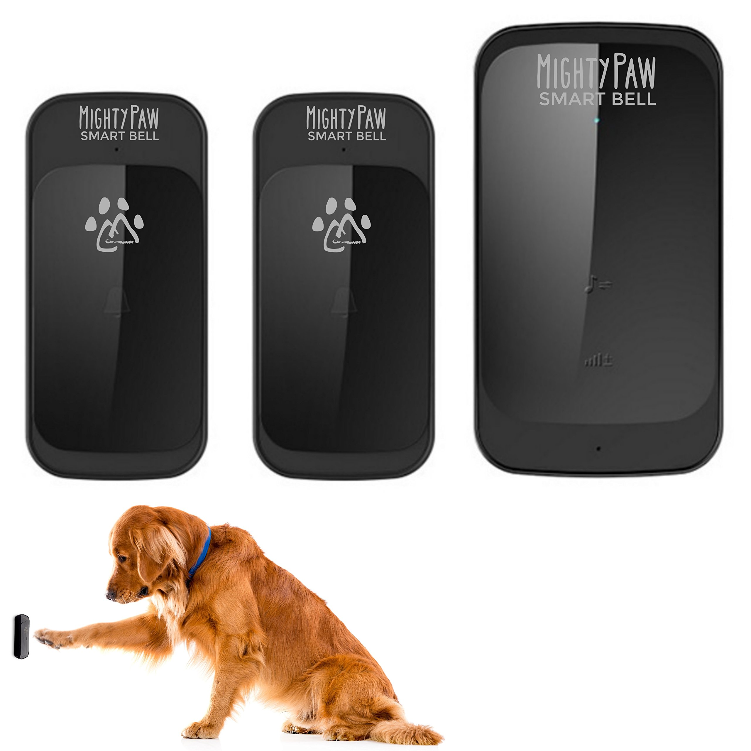 Mighty Paw Smart Bell Wireless Dog Doorbell Potty Bell for Dogs Waterproof wi