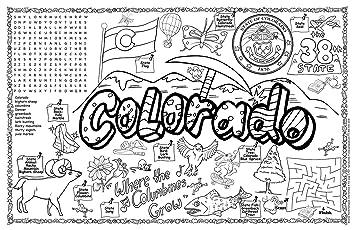 gallopade publishing group colorado symbols and facts fun sheet pack of 30 9780635064196
