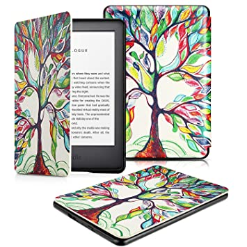 OMOTON Funda Nuevo Kindle 2019 Carcasa Nuevo Kindle 2019 Funda, PU, Sueño Automático, Cierre Magnético, Color Árbol de Amor, Solo para All-New Kindle, ...