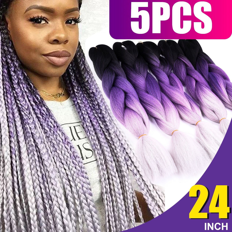 Amazon Ayana Braiding Hair Ombre Jumbo Hair Extensions 24