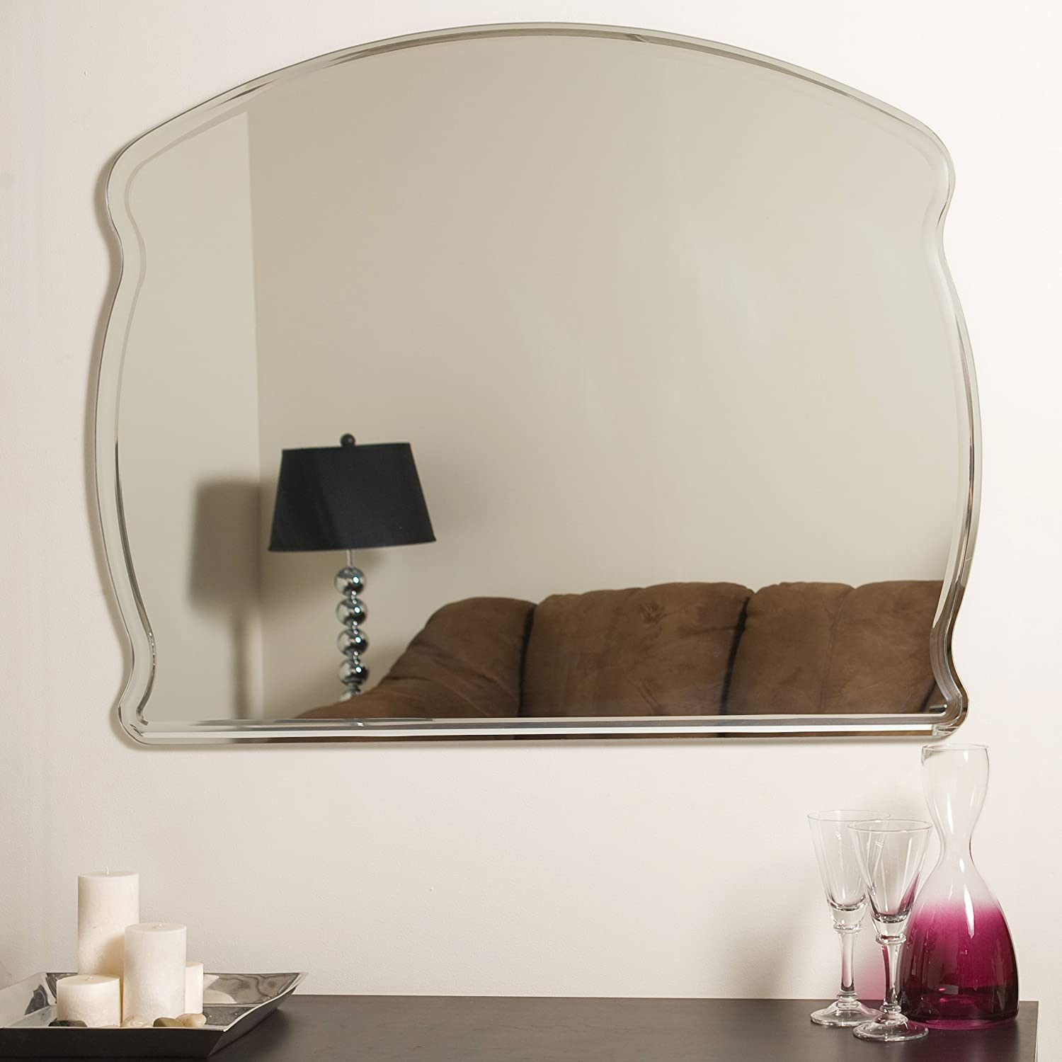 Amazon decor wonderland frameless wide wall mirror home amazon decor wonderland frameless wide wall mirror home kitchen amipublicfo Choice Image