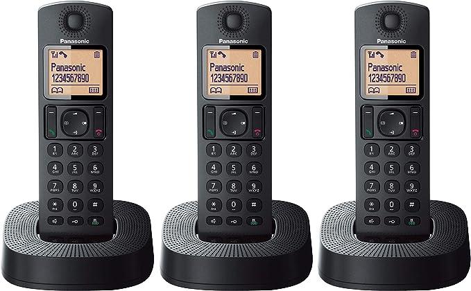 Panasonic KX-TGC313 - Teléfono Fijo Inalámbrico Trio (LCD, Identificador de Llamadas, 16 H Uso Continuo, Localizador, Agenda de 50 números, Bloqueo Llamada, Modo ECO, Reducción Ruido) Negro: BLOCK: Amazon.es: Electrónica