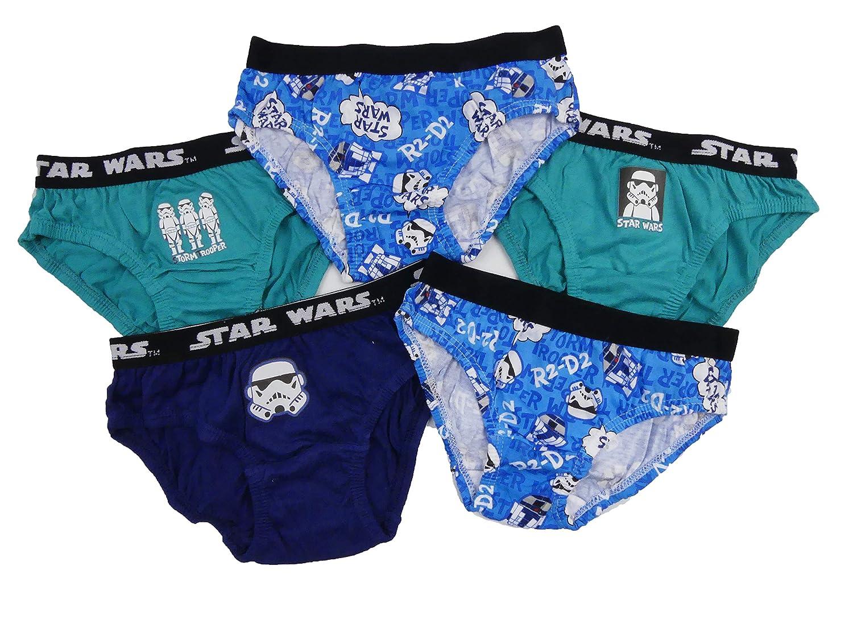 Boys Storm Trooper R2-D2 Briefs Pants Underwear Star Wars Five Pack Multi Pack