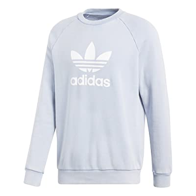 adidas Trefoil Crew Sweater - Ash Blue - XXL: Sports & Outdoors