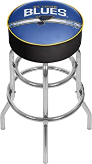 Trademark Gameroom NHL Chrome Bar Stool with Swivel-St. Louis Blues