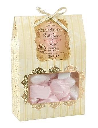Amazon.com: Beau Jardin Rose & Geranium Bath Rocks: Beauty