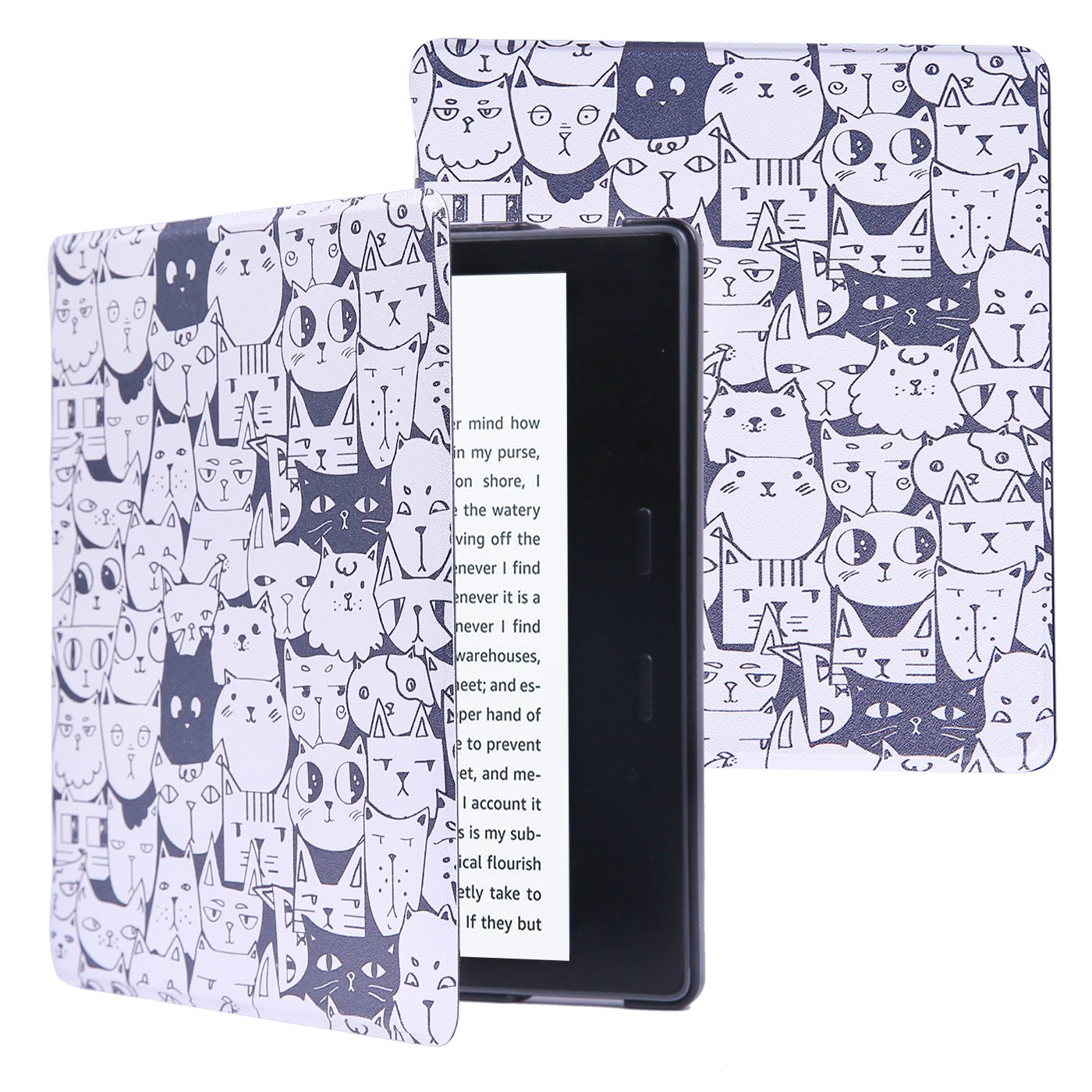 Case for All-New Kindle Oasis (9th Generation, 2017 Release) Premium Lightweight Shell Cover with Auto Sleep / Wake Smart Cover for Kindle Oasis E-reader - A Thousand Cats