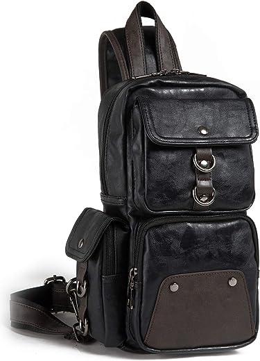 بيسون دينيم سلينغ حقيبة ظهر سلينغ حقيبة رجل حقائب كروس بودي جلدية حقيبة كتف الصدر حقيبة الكتف حزمة للرجال