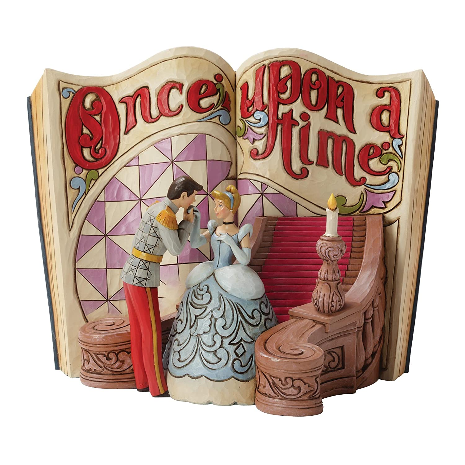 Disney Tradition 4031482 Once Upon a Time Cinderella Resina, Design di Jim Shore, 18 cm