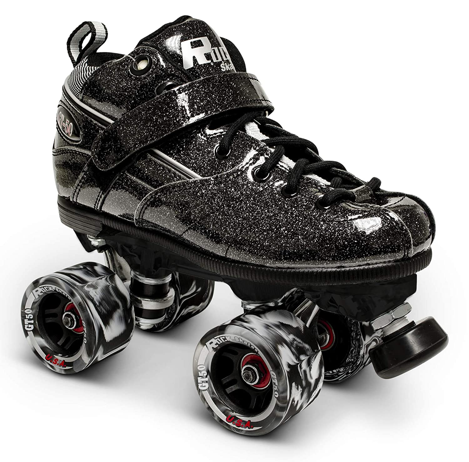 Owlsome Classic High Top Boot Style Soft Faux Leather Roller Skates for Adult Youth