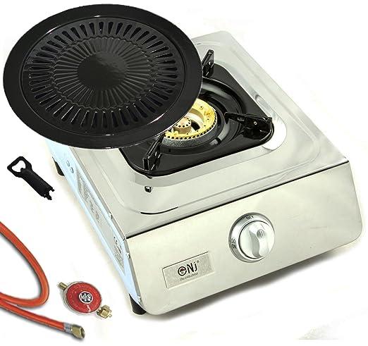 Acero inoxidable de calidad Hornillo de gas 1 focos 5.0 kW ...