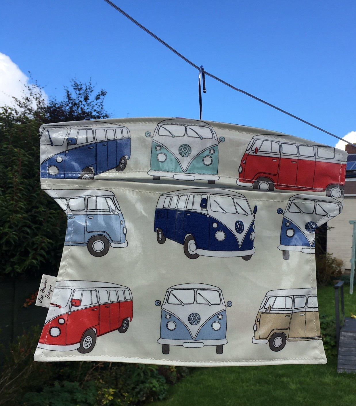 Peg bag,handmade Peg Bag,laundry Bag,clothes Peg Bag,Campervan oilcloth