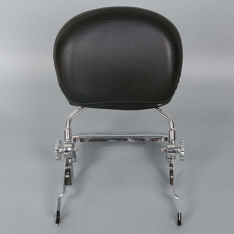 Adjustable Detachable Backrest Sissy Bar+Luggage Rack For Harley Touring 09-UP