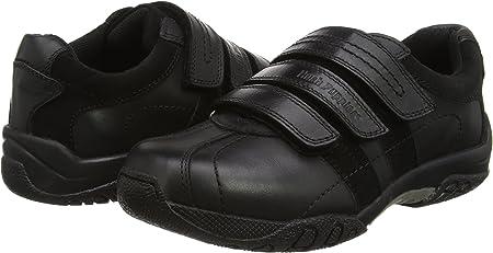 100/% Positive Reviews Hush Puppies Seb Boys Black Leather School Shoes