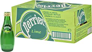 PERRIER Sparkling Mineral Water Lime, 24 x 330 ml