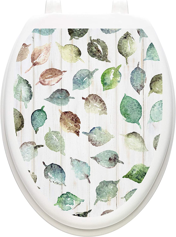 Seat  Lid  Bathroom Sticker Decor Fairy Succulents  Vinyl  TT LID Cover  USA