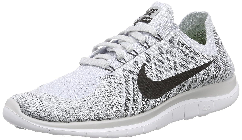 sélection premium dde98 c2581 Nike Men's Free 4. 0 Flyknit Running Shoe, Pure Platinum/Blk ...