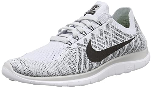 best authentic a2260 d1cd6 Nike Mens Free 4. 0 Flyknit Running Shoe, Pure PlatinumBlkWhite
