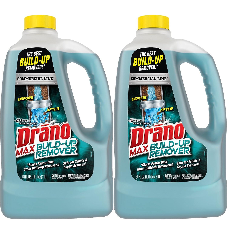 Amazon.com: Drano Commercial Line Max Build-Up Remover 64 Ounces, 2 ...