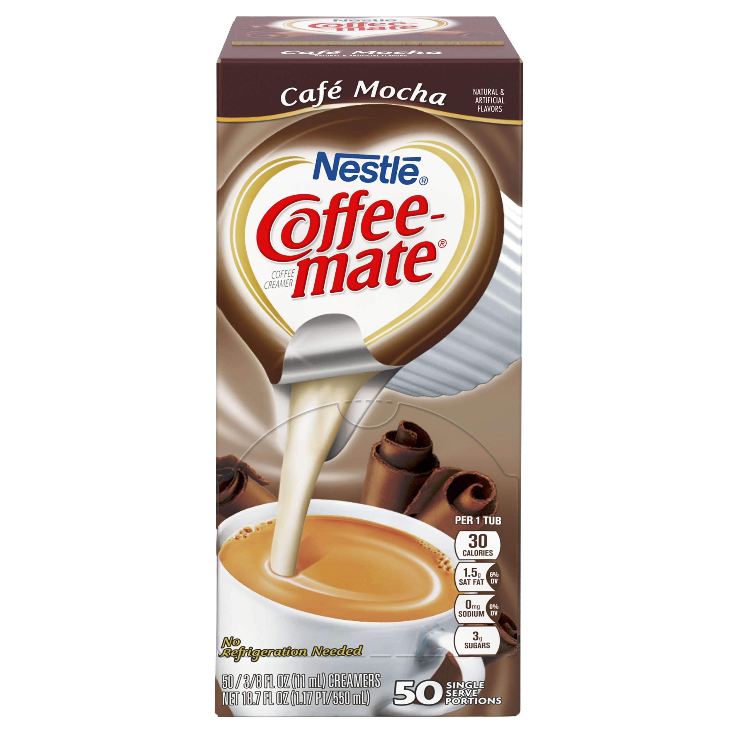 NESTLE COFFEE-MATE Coffee Creamer, Cafe Mocha, liquid creamer singles, 50 Count (Pack of 4) by Nestle Coffee Mate (Image #2)