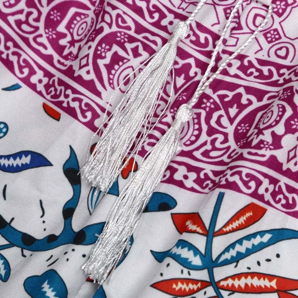 ManxiVoo Hot Sales Womens Tassel Drawstring Floral Printed Casual Beach Shorts Boho Print Hot Pants