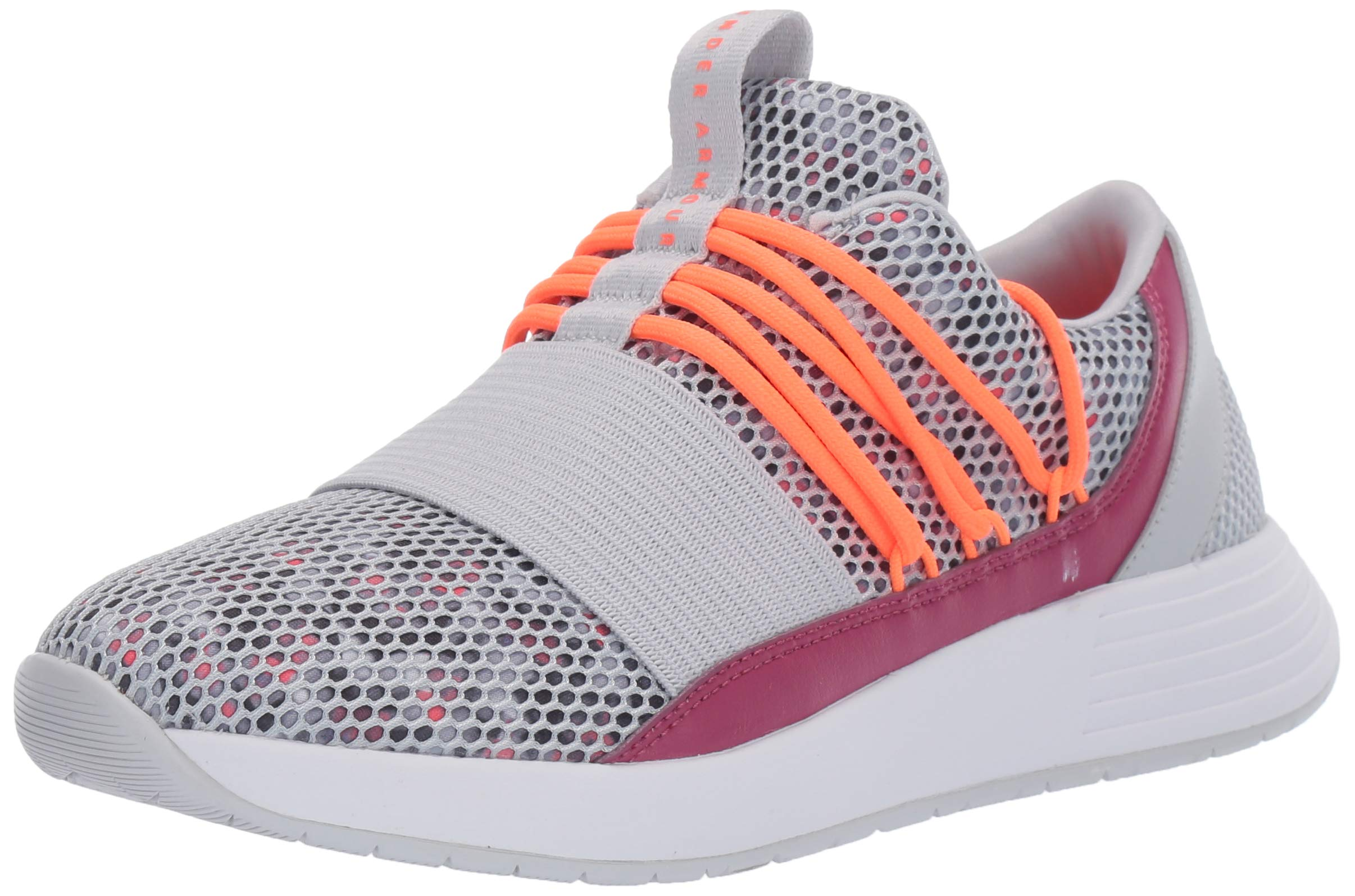 Under Armour Women's Breathe Lace Sneaker, Halo Gray (105)/Pink Quartz, 11 by Under Armour