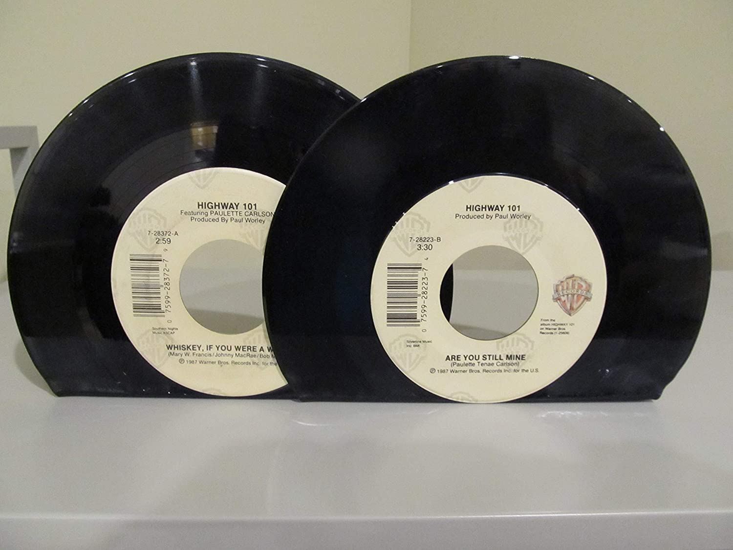 picture regarding Printable Vinyl Record Labels named : Vinyl Heritage Bookends 45 RPM Road 101 upon WB