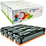 Precise Point Compatible High Yield Toner Cartridge Replacement for HP201X, CF400X, CF401X, CF402X, CF403X, for use with HP M277dw, M252dw, M277n, M252n (1 Black, 1 Cyan, 1 Magenta, 1 Yellow, 4-Pack)