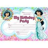 8 x princess jasmine invitation disney jasmine invite princess jasmine birthday free envelops