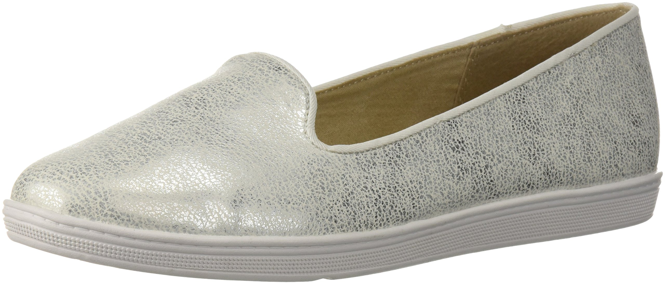 Soft Style Hush Puppies Women's Faline Loafer, White Mist, 12.0 M US