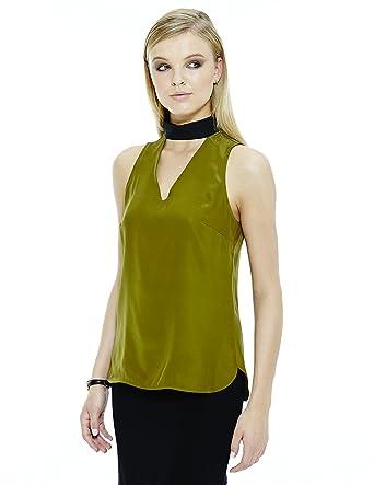 92fdc301fcf707 Kerry choker neck and silk tank at Amazon Women s Clothing store