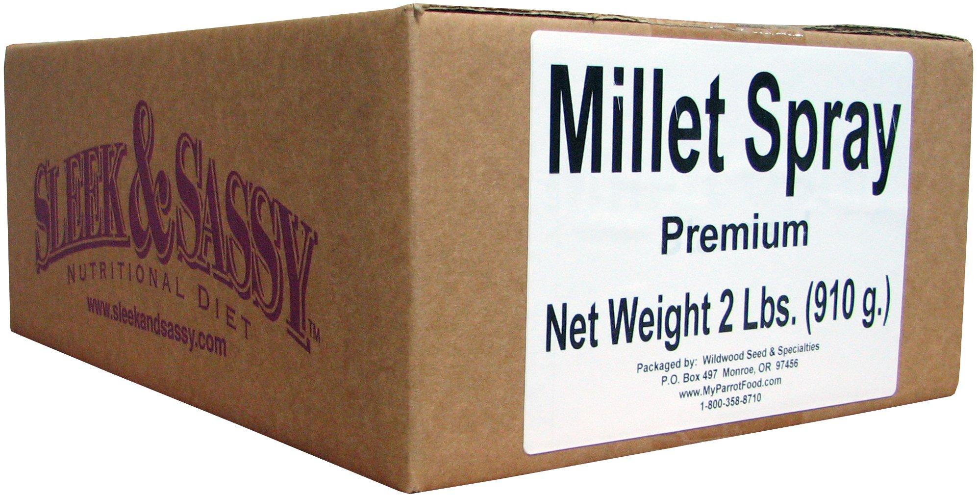 SLEEK & SASSY NUTRITIONAL DIET Premium Millet Spray for Birds (2 Lbs.) by SLEEK & SASSY NUTRITIONAL DIET
