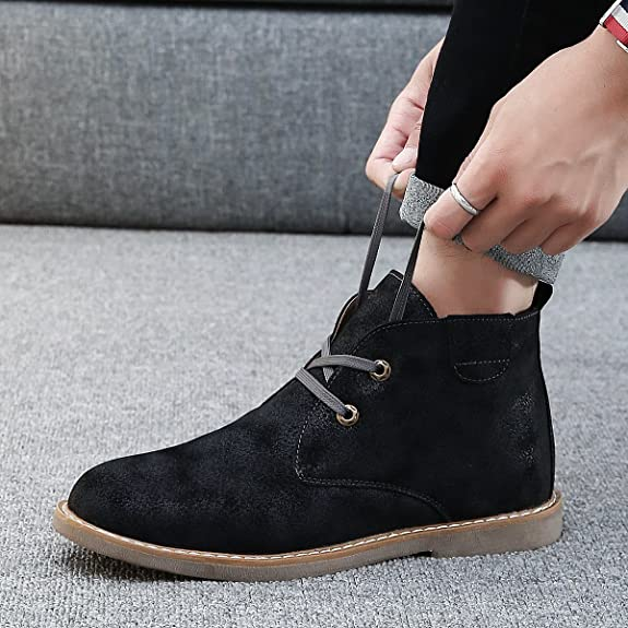 Amazon.com | gracosy Desert Boot for Men, Winter Chukka Boot Lace Up Ankle Boots Fashion Casual Shoes | Chukka