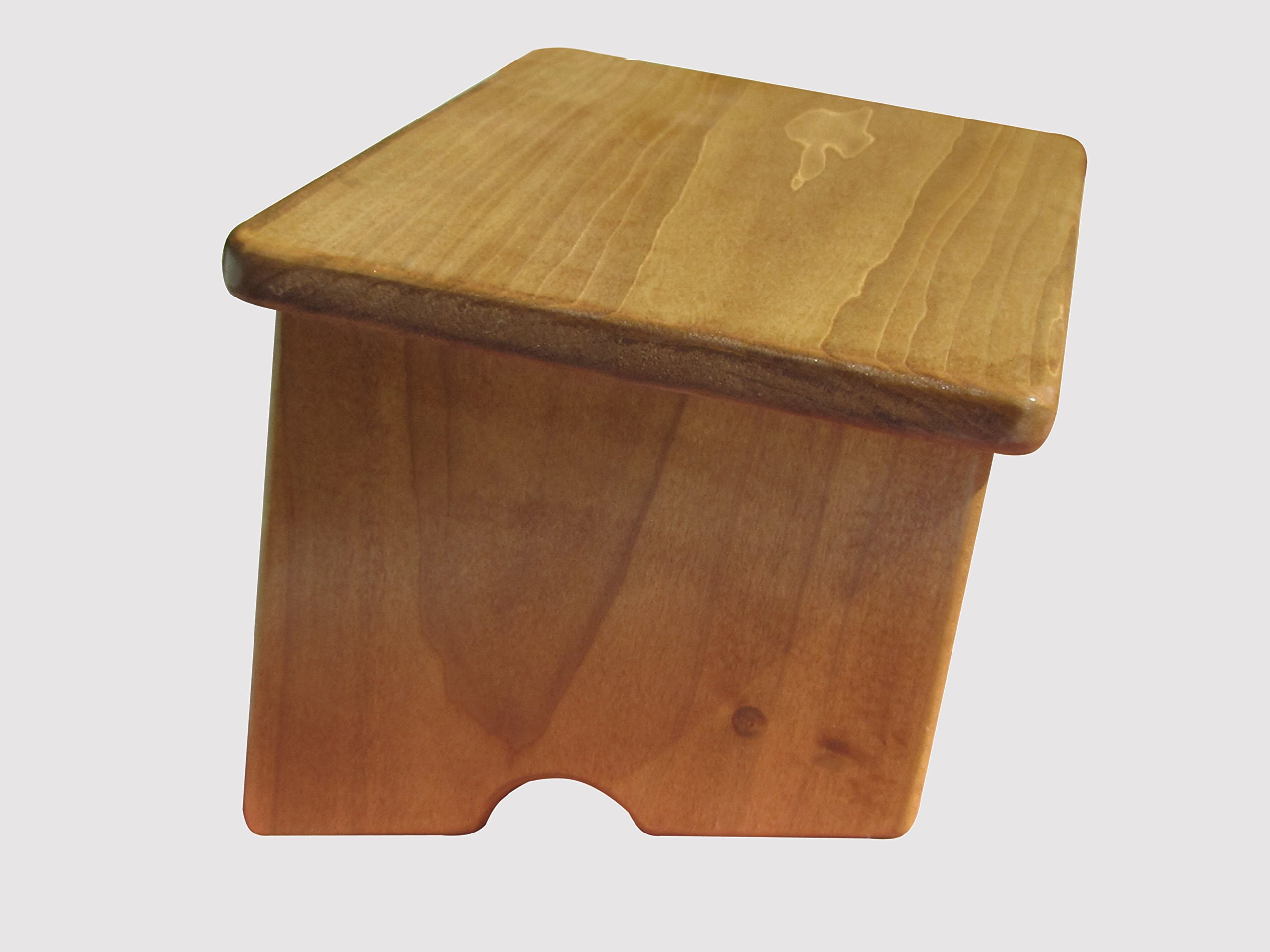Nursing Foot Stool 6'' Tall Poplar Wood (Made in the USA) (Maple Stain)