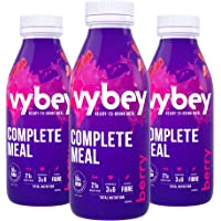 vybey Mixed Berry Flavour | Meal Replacement | Total Nutrition Ready to Drink Meal | 21g Protein | 25 Vitamins & Minerals |12 bottles x 380ml