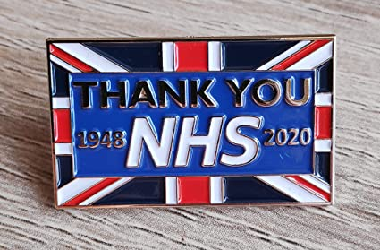 NHS isolamento 2020 BADGE Vi ringrazio keyworker