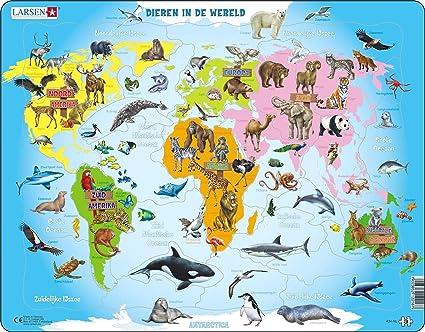 Larsen Maxi LA-A34-NL Puzzle - Rompecabezas (Rompecabezas de Figuras, Mapas, Niños, Niño/niña, 3 año(s), Interior): Amazon.es: Juguetes y juegos