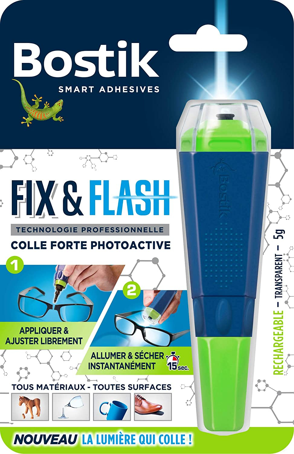 Bostik Fix & Flash 5g Colle forte Glue Photoactive Bostik SA