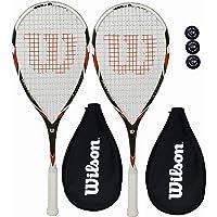 Wilson Pro Team Raquetas Squash + Funda