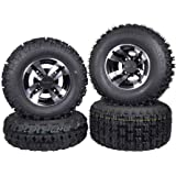 SET 4 YAMAHA RAPTOR 660R 700 Black MASSFX Rims /& MASSFX Tires Wheels kit