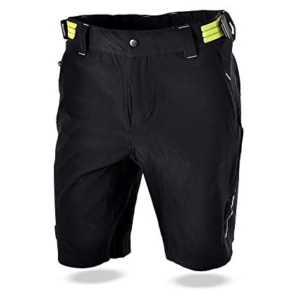 SILVINI Men s Mountain Bike Shorts in Black-Lime for Cycling and All Other  Outdoor Activities 7ede95ffa