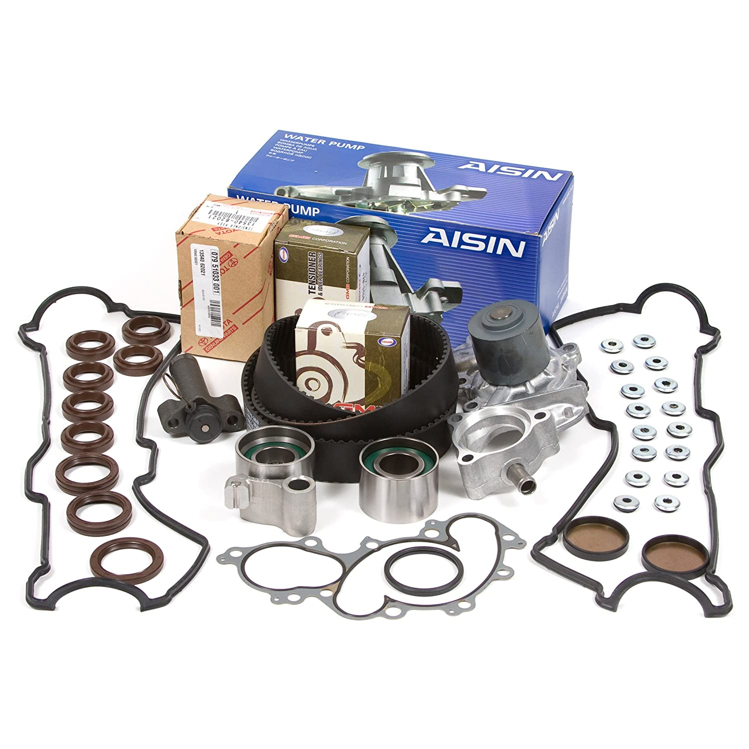95-04 Toyota 3.4 DOHC 24V 5VZFE Timing Belt Kit w/ Hydraulic Tensioner AISIN Water Pump Valve Cover Gasket Domestic Gaskets