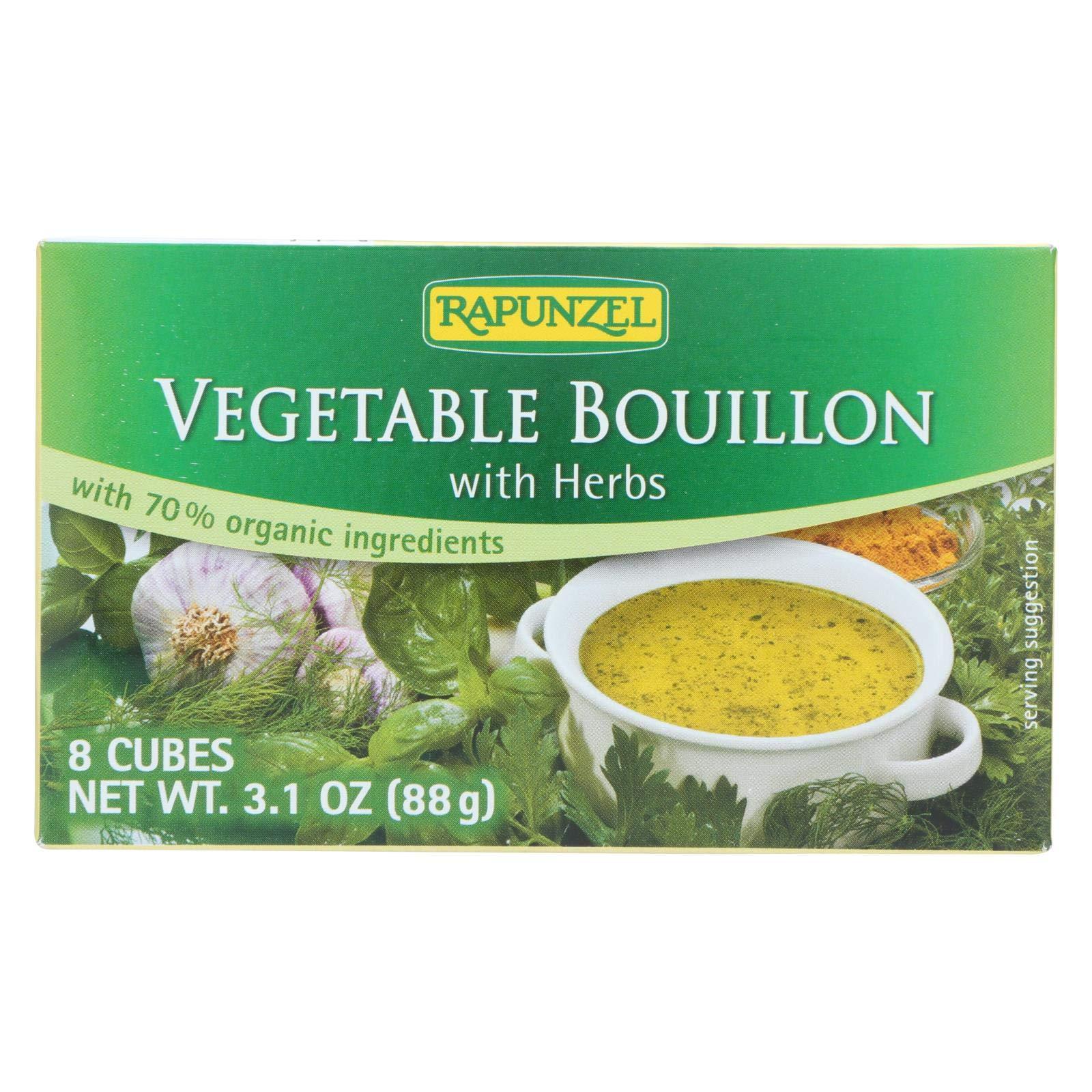 Rapunzel Bouillon Cubes - Vegetable - Vegan - Sea Salt And Herbs - 3.10 Oz - Case Of 12 3.10 OZ by Rapunzel