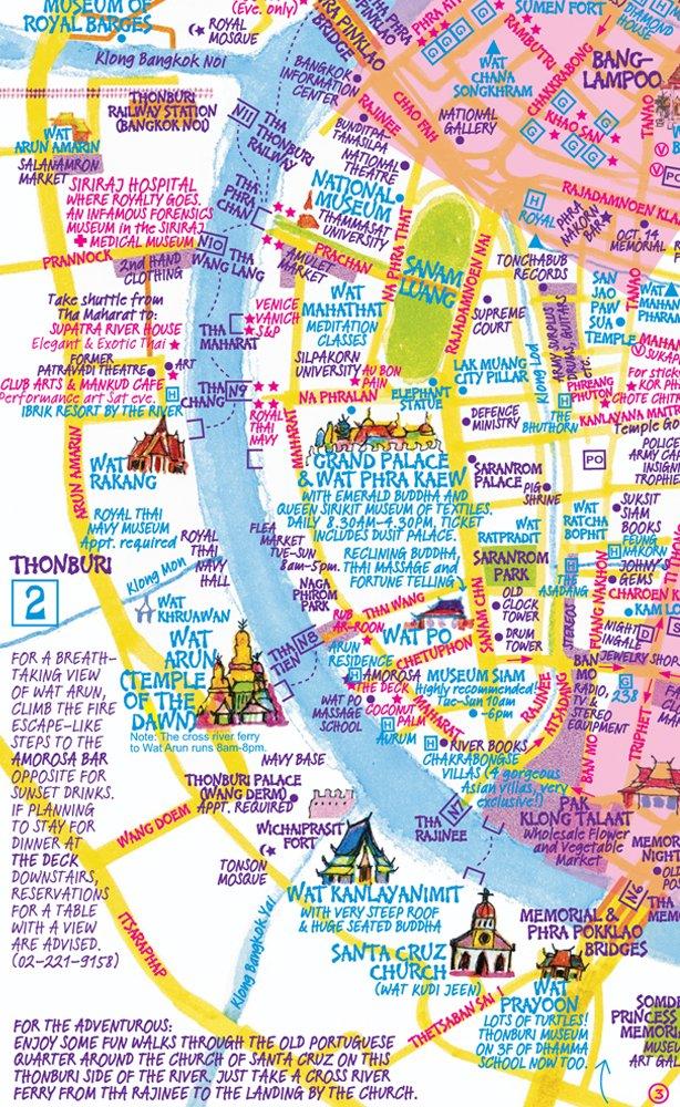 Nancy Chandlers Map of Bangkok 26th Edition Nima Chandler – Maps Of Bangkok For Tourists