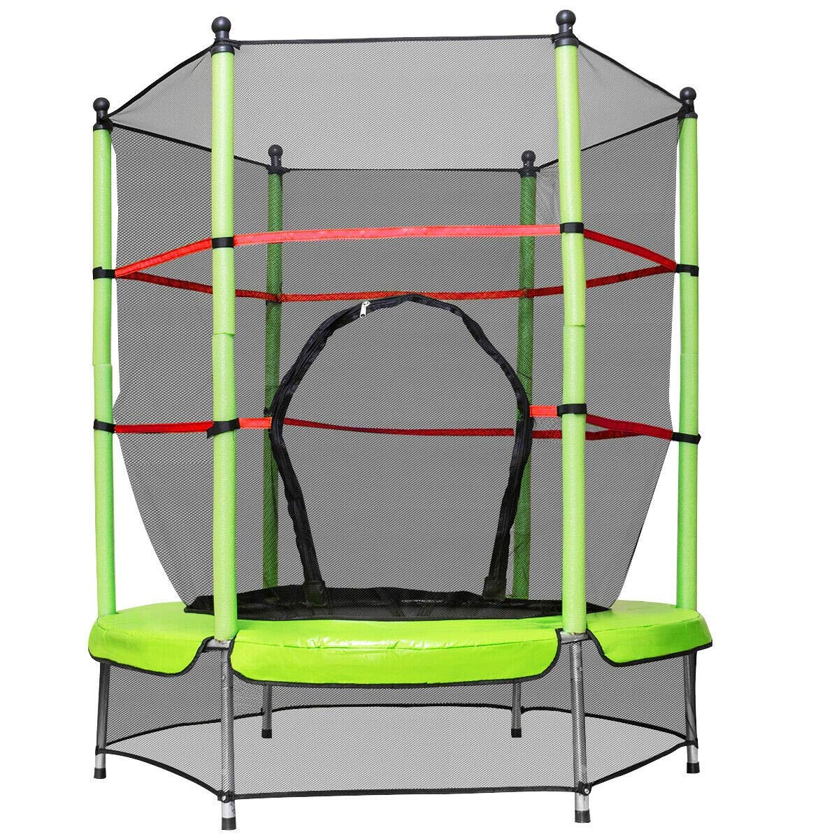 Bounce Their Ways to Fun 55'' Round Exercise Jumping Trampoline with Safety Pad 9rit_Shop by Bounce Their Ways to Fun 55'' Round Exercise Jumping Trampoline with Safety Pad