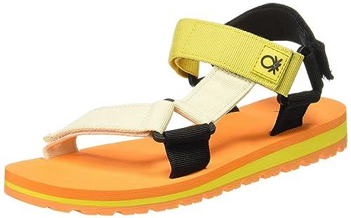 eda0ddf88 United Colors of Benetton Men s Orange Flip Flops Thong Sandals-9.5 UK India  (