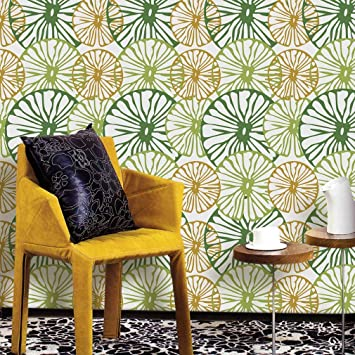 Buy Lori 3d Peel And Stick Wallpaper For Tv Sofa Livingroom Background Decoration 53x122cm Creative Flowers Wall Decor Green Livingroom P007 Green Online At Low Prices In India Amazon In
